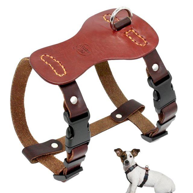 Retro Genuine Leather Dog Harness