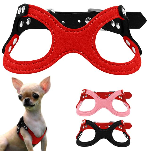 Soft Leather Dog Harness