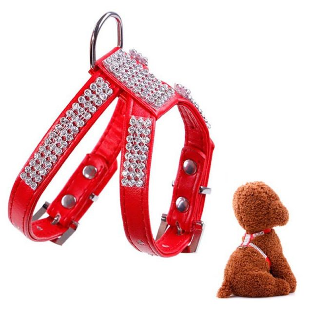 Luxury Rhinestone Dog Harness