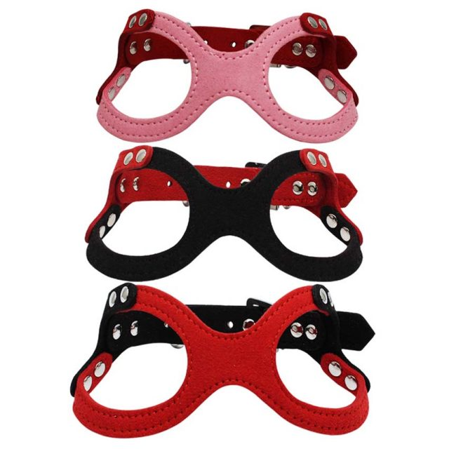 Adjustable Soft Suede Puppy Dog's Harness