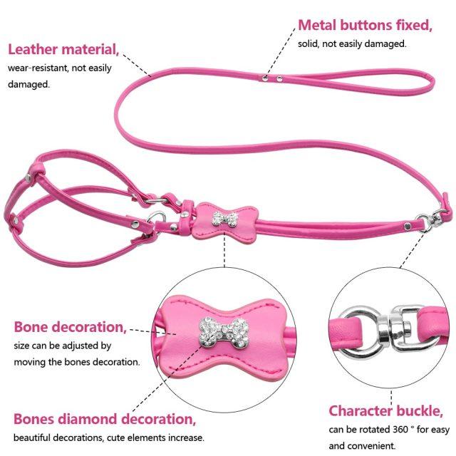 PU Leather Dog Harness