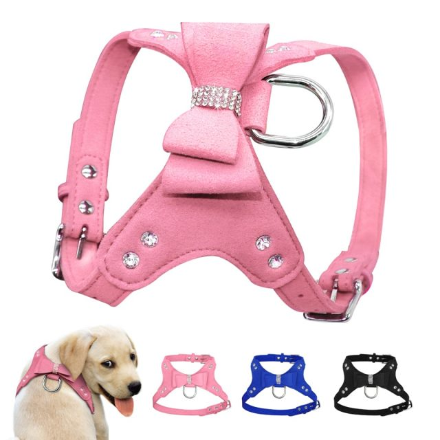 Small Dog Leather Dogs Harness