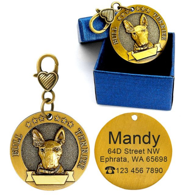 Medallion Engraved Pet ID Tag (18 Breeds)